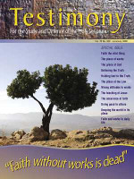 "Cover of the special issue entitled ""Faith without works is dead"""