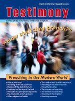 Cover of the special issue entitled Preaching in the modern world