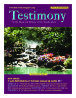 January 2010 Testimony magazine cover