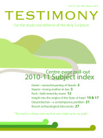 Cover of Testimony magazine volume 81 issue 958