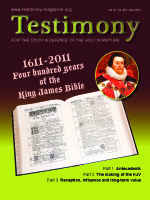Cover of the special issue entitled Four hundred years of the King James Bible