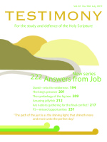 July 2011 Testimony magazine cover