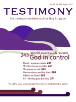 Cover of Testimony magazine volume 81 issue 963