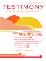 October 2011 Testimony magazine cover