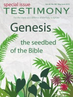Cover of the special issue entitled Genesis