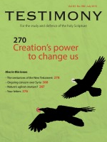 July 2013 Testimony magazine cover