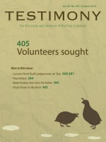 October 2013 Testimony magazine cover
