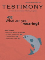 Cover of Testimony magazine volume 83 issue 988