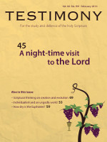 Cover of Testimony magazine volume 84 issue 991