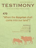 Cover of Testimony magazine volume 84 issue 1000