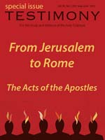 Cover of the special issue entitled From Jerusalem to Rome
