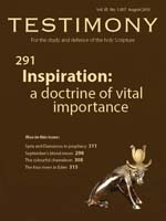 Cover of Testimony magazine volume 85 issue 1007
