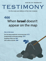 Cover of Testimony magazine volume 85 issue 1011