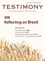 Latest issue of the Testimony magazine