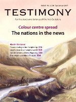 September 2017 Testimony magazine cover