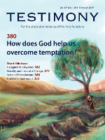 Cover of Testimony magazine volume 87 issue 1031
