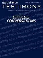 Cover of the special issue entitled Difficult conversations