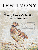 Cover of Testimony magazine volume 90 issue 1057